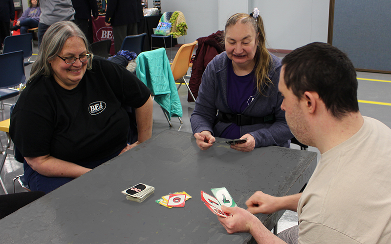 BEi Employees Playing Uno