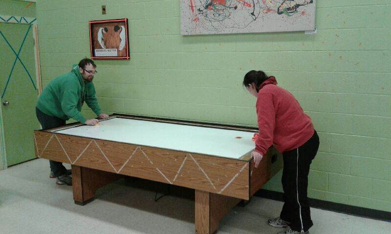 Air Hockey Community Participation Supports